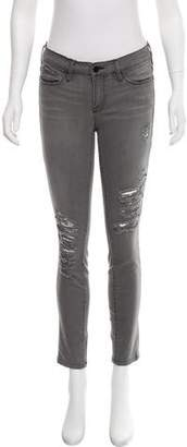 Frame Mid-Rise Distressed Jeans