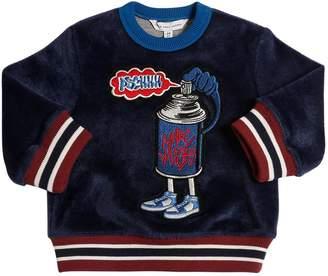 Little Marc Jacobs Spray Paint Chenille Sweatshirt