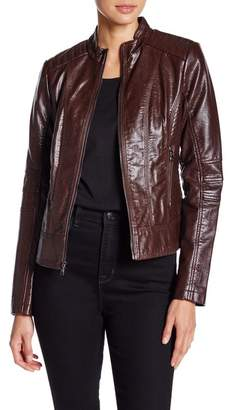 GUESS Faux Leather Jacket $180 thestylecure.com