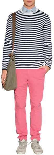 Paul Smith Navy/White/Multi Striped Cotton Pullover