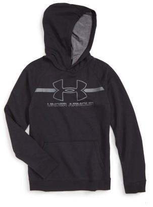 Boy's Under Armour Logo Hooded Sweatshirt $44.99 thestylecure.com