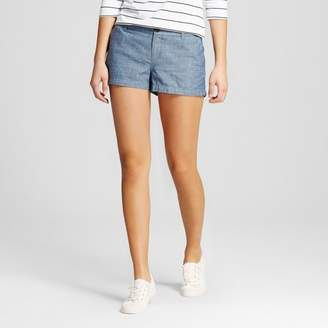 "Merona Women's 3"" Chino Shorts Chambray $19.99 thestylecure.com"