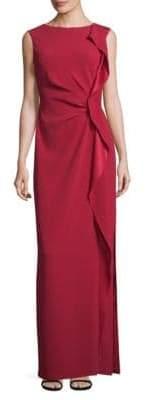 Escada Sleeveless Ruffle Gown