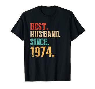 2tees T08 M17c 45th Wedding Anniversary Gifts Best Husband Since 1974 Shirt