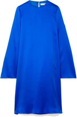 The Row Bantoi Washed Silk-charmeuse Midi Dress - Bright blue