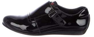 Prada Sport Patent-Leather Monk Strap Sneakers