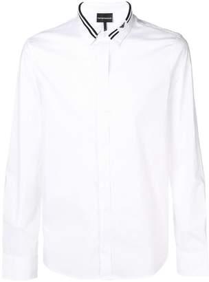 Emporio Armani stripe trim shirt