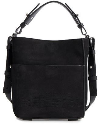 Allsaints Cooper Mini Leather Tote - Black $278 thestylecure.com