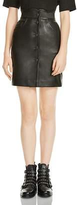 Maje Journey Leather Skirt