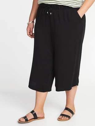 Old Navy Mid-Rise Plus-Size Pull-On Soft Culottes