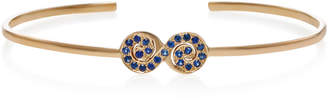 She Bee 14K Yellow Gold and Sapphire Figure 8 Cuff