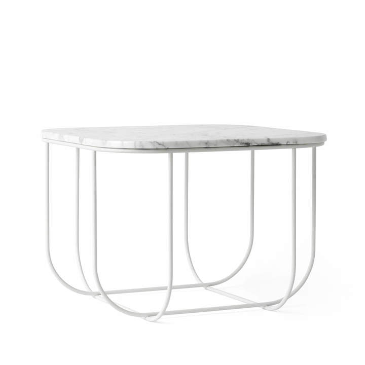 Menu - Cage Table, Marmor / weiß