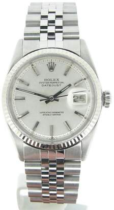 Rolex Datejust 1601 Stainless Steel & 18K White Gold 36mm Watch $2,899 thestylecure.com