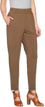 Halston H By H by Jet Set Jersey Ankle Pants with Smocked Waistband