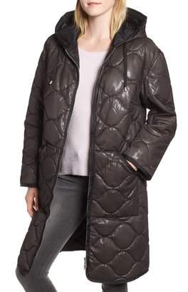 AVEC LES FILLES Quilted Nylon Coat