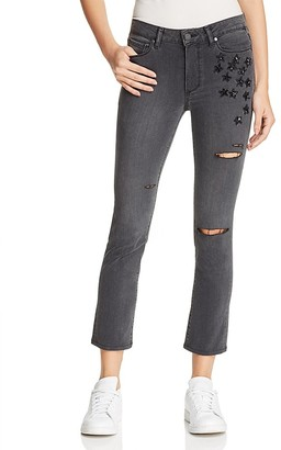 PAIGE Jacqueline Straight Crop Jeans in Grey Jupiter - 100% Exclusive $299 thestylecure.com