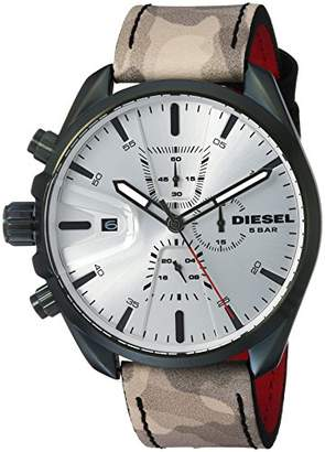 Diesel Men's 'Ms9 Chrono' Quartz Stainless Steel and Leather Casual watch Color (Model: DZ4472)
