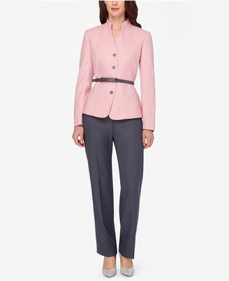 Tahari ASL Colorblocked Belted Pantsuit $280 thestylecure.com