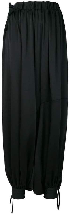 oversized harem trousers