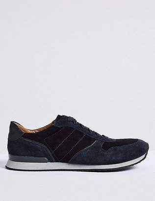 Marks and Spencer Suede Lace-up Casual Trainers