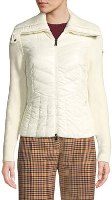 Moncler Maglione Tricot Wool-Blend Cardigan