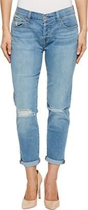 7 For All Mankind Women's Josefina Boyfriend Jean with Knee Holes