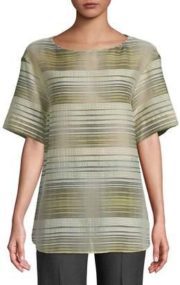 Lafayette 148 New York Women's Striped Short-Sleeve Top