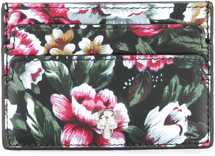 Alexander McQueenAlexander McQueen floral cardholder