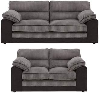 Very Delta 3 Seater + 2 Seater Fabric Sofa Set (Buy and SAVE!)