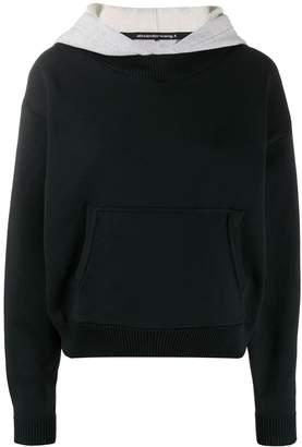 Alexander Wang layered cropped hoodie