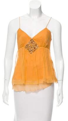 Robert Rodriguez Silk Embellished Top