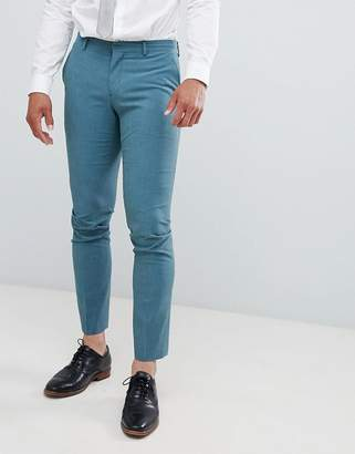Selected Skinny Suit PANTS In Green With Stretch