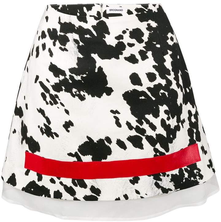 Brognano zebra print mini skirt