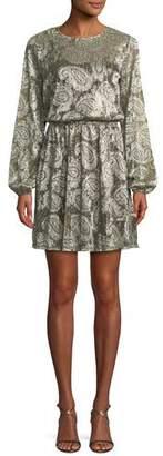 MICHAEL Michael Kors Metallic Cinched-Waist Dress