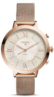 Fossil Q Jacqueline Rose Gold-Tone Hybrid Smartwatch, 36mm