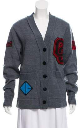 Opening Ceremony Embroidered Knit Cardigan