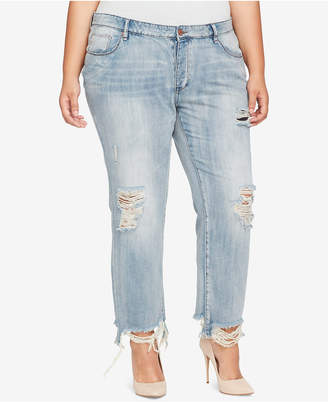 William Rast Trendy Plus Size Cotton Distressed Jeans