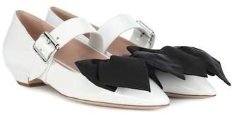Miu Miu Leather ballet flats