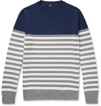 Piombo MP Massimo Cézanne Slim-Fit Striped Cashmere Sweater