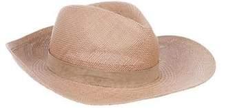 Janessa Leone Straw Wide-Brim Hat