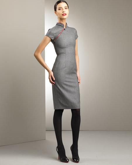 Alexander McQueen Asymmetric-Zip Dress