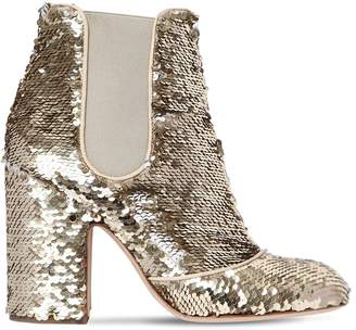 Laurence Dacade 100mm Mila Sequined Ankle Boots