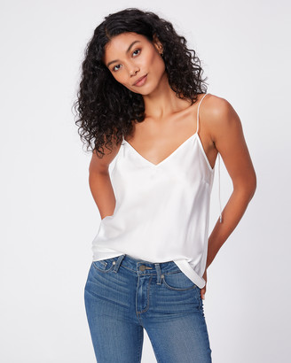 Paige CICELY CAMI WITH V BACK-WHITE