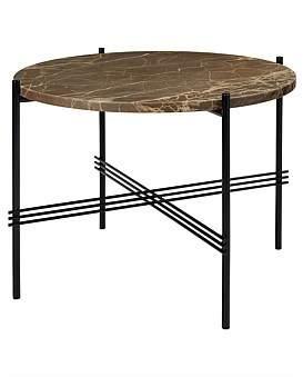 Gubi Ts Coffee Table Round 55Cm Marrone Emperador Marble (Brown)