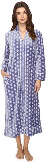 Carole HochmanCarole Hochman Velour Zip Robe