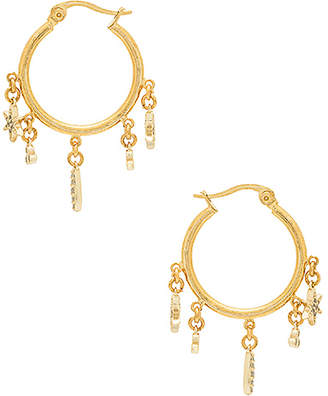 Shashi Tori Charm Hoop Earrings