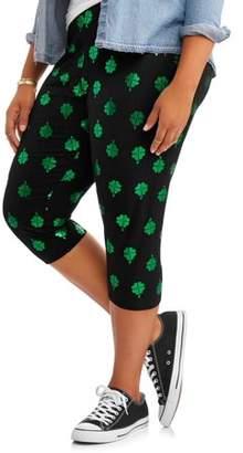 4f76fed20810b No Boundaries Juniors' Plus Size Printed Capri Legging