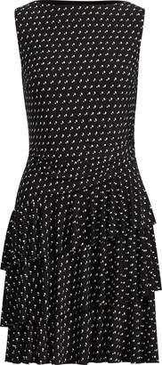 Ralph Lauren Polka-Dot Ruffled Jersey Dress