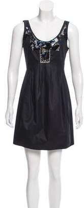 AllSaints Embellished Pleated Dress