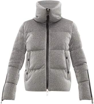 Moncler Bandama Metallic Quilted Down Jacket - Womens - Silver